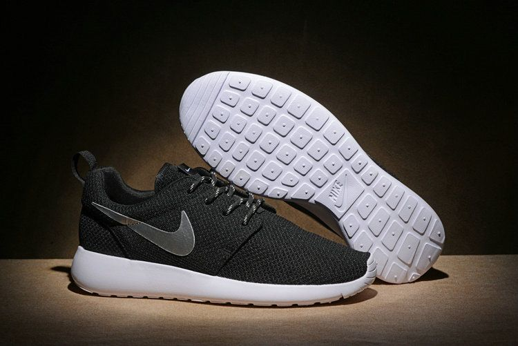 sports shoes 4da70 087d7 Youth Big Boys Nike Roshe Run One Black Silver White 511881 094 Running  Shoes New Style