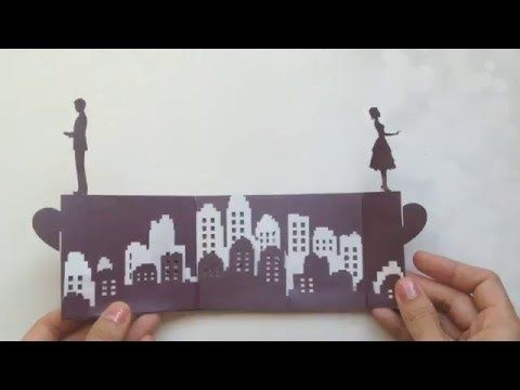 Long Distance Love Story Pop Up Card Tutorial, Valentineu0027s Day - love templates free