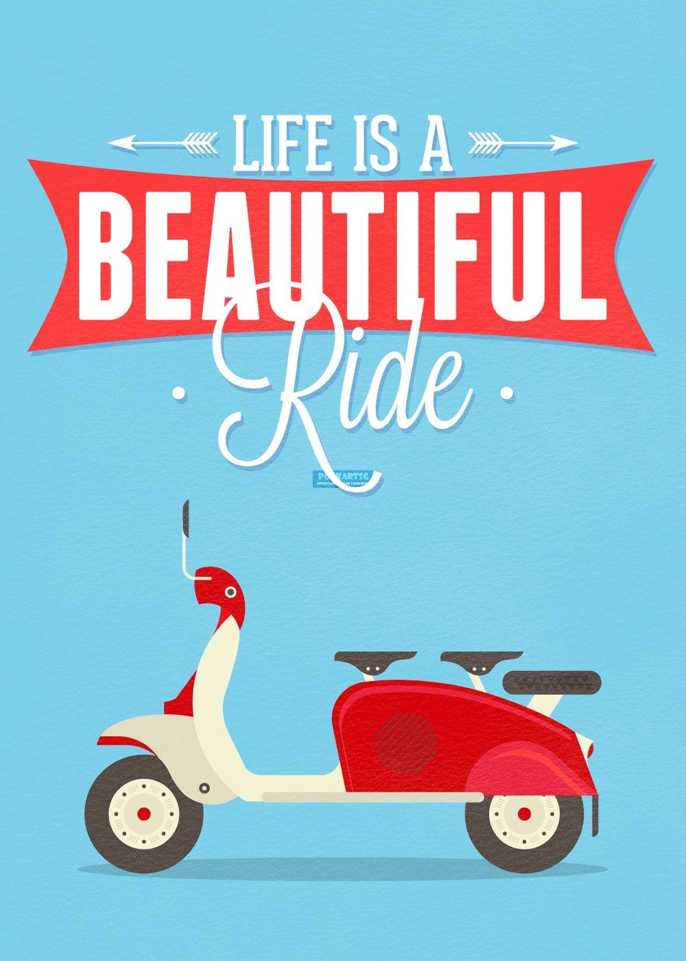 Life Is A Beautiful Ride Poster via PopKartSg. Click on the image to see more!