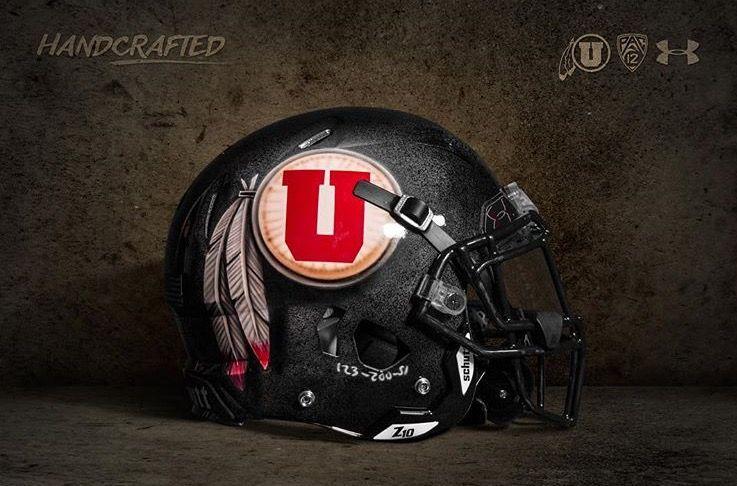 University Of Utah Utes Custom Painted Logo Ncaa Football Helmet Utah Football Football Helmets College Football Helmets