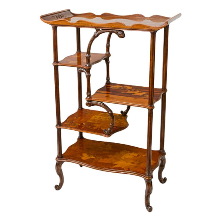 etagere by emile galle france 1900 art nouveau pinterest france french art and art deco. Black Bedroom Furniture Sets. Home Design Ideas
