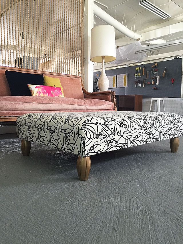 finished-upholstered-pallet-ottoman | stuff I want to make ...