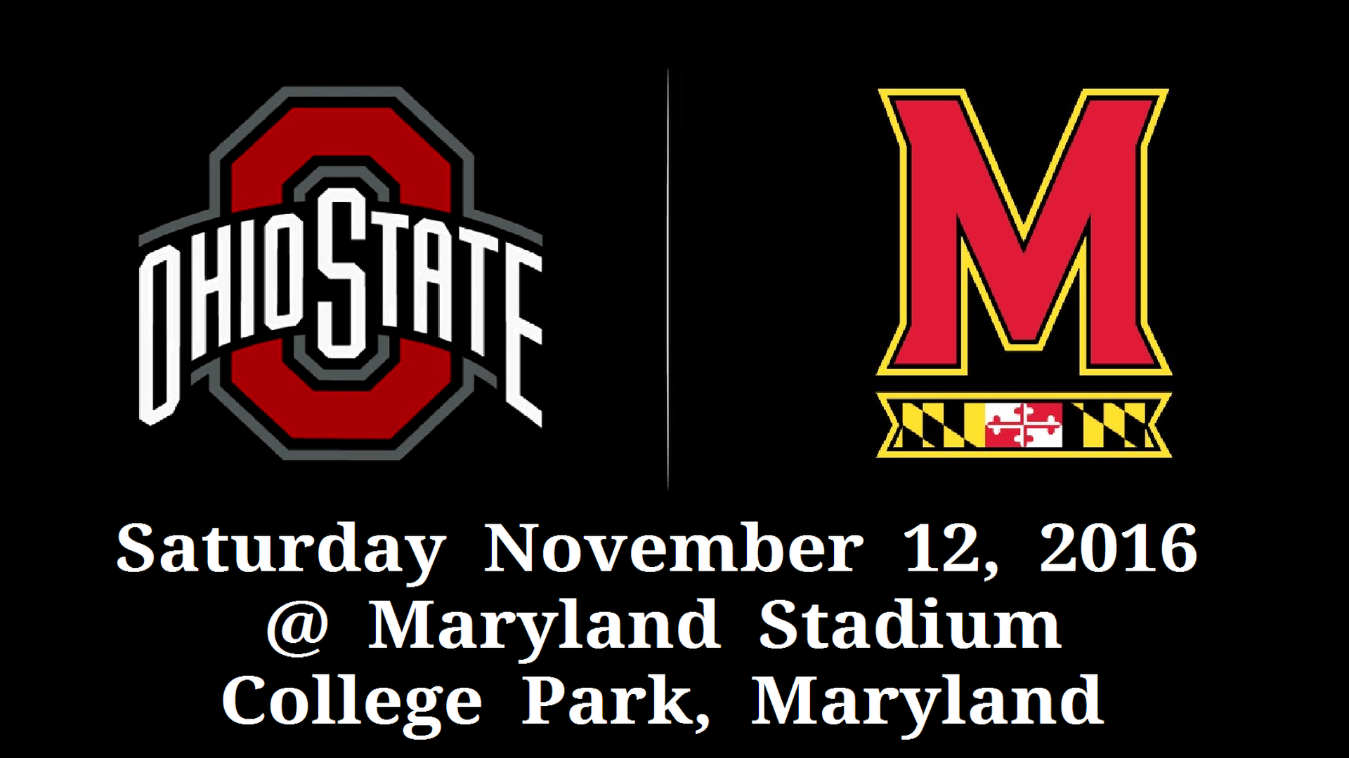 11-12-2016 GAME #10 THE VS. MARYLAND GAME POSTER.