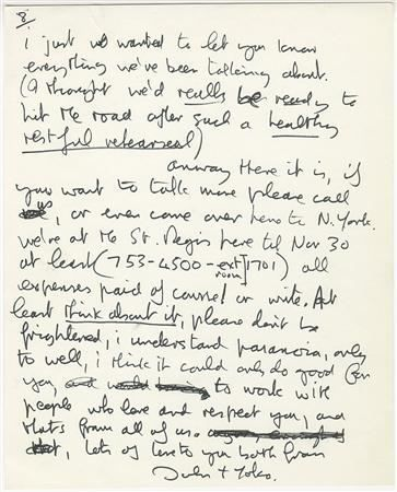 john lennons handwritten letter to eric clapton up for auction