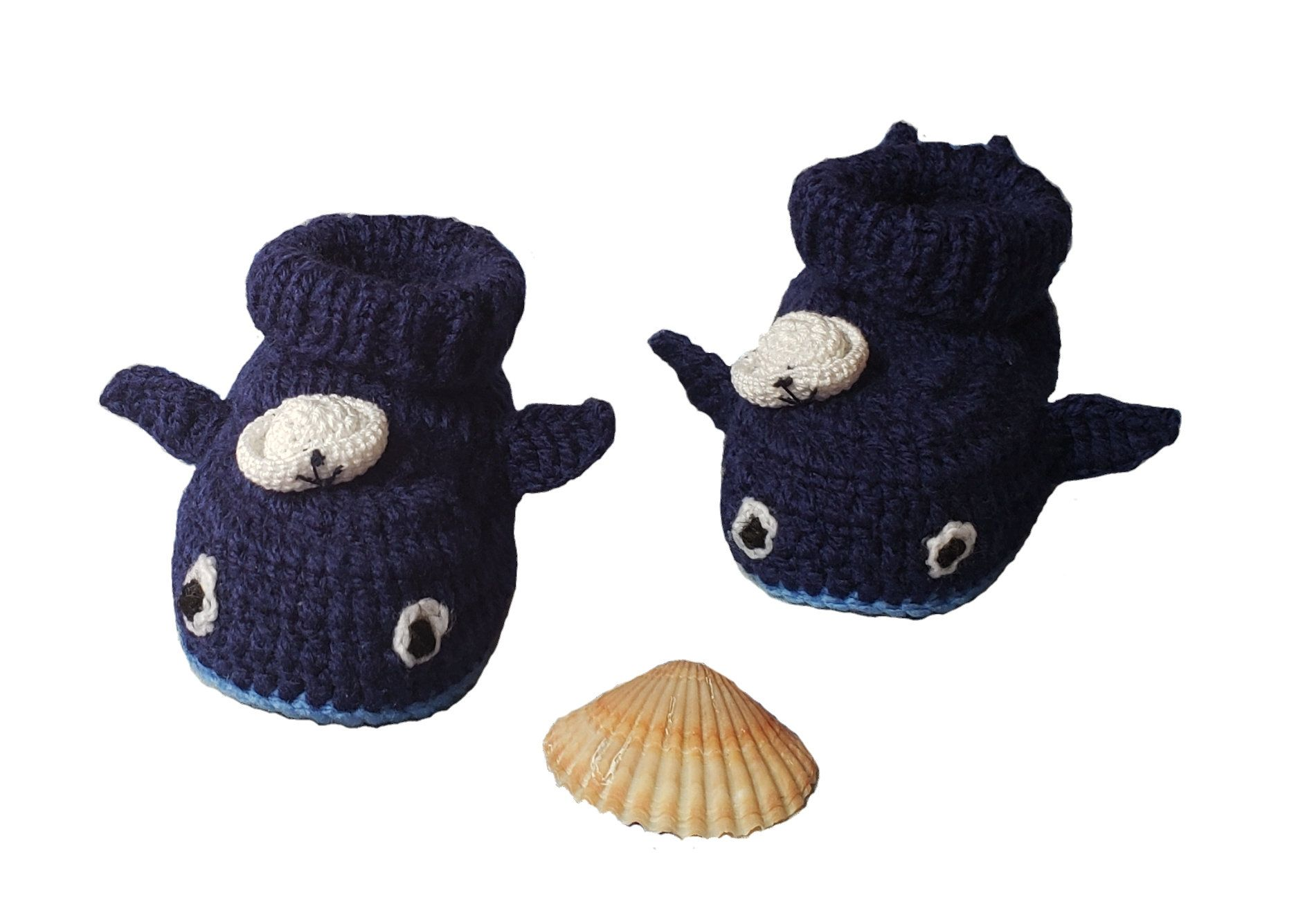 Photo of Blue Whale Baby Booties- Cute Whale Plush Slippers- Crochet Whale Booties- Baby Boy's Bootie Slippers- Baby Boy Whale Shoes, Baby shower