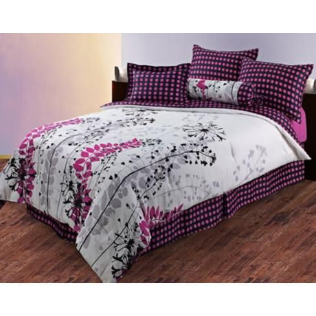 harvest pink polka dots comforter bedding set for the home pinterest bed sets comforter. Black Bedroom Furniture Sets. Home Design Ideas