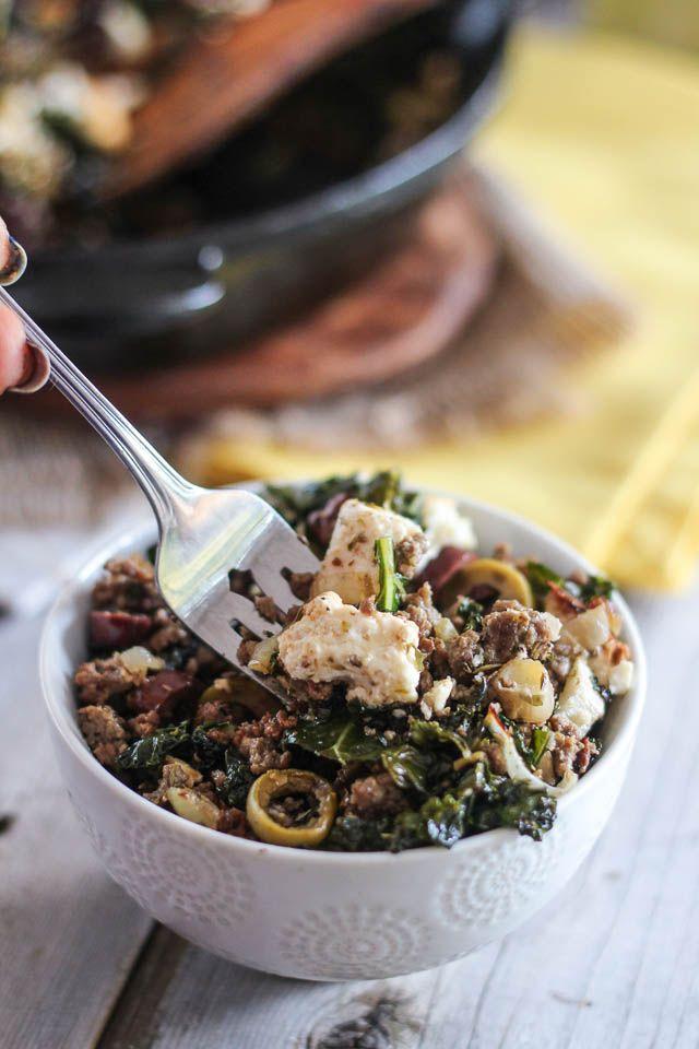 Gound Beef Skillet Greek Style Recipe Best Beef Recipes Beef Recipes Ground Beef