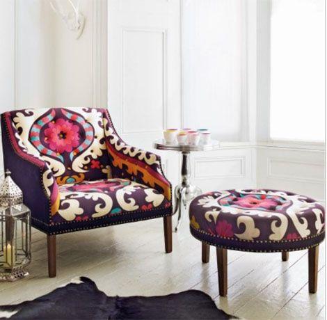 Tapizar una butaca combinando telas diferentes sillones sitiales sof s pinterest butacas - Tela de tapiceria para sillones ...