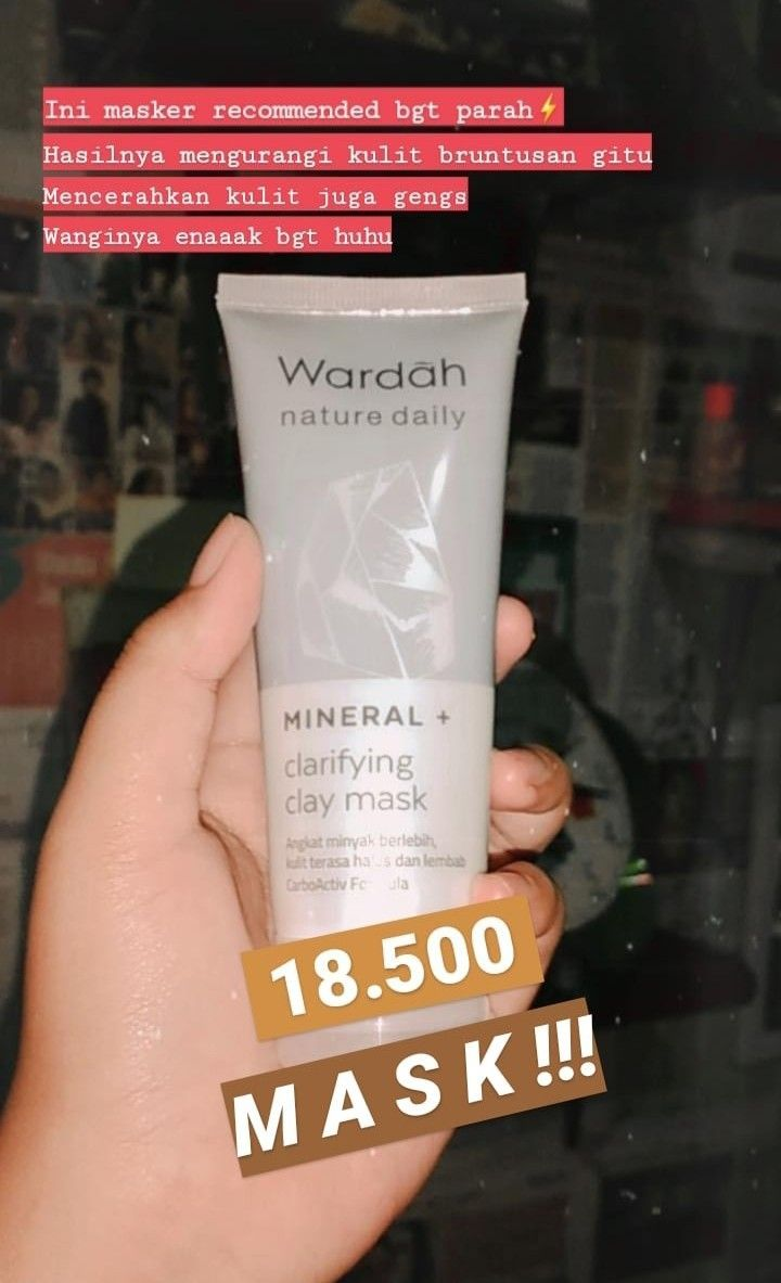 Powered By Wardah Nature Daily Mask Skincare Wajah Claymask In 2020 Beautiful Skin Care Makeup Skin Care Recommended Skin Care Products
