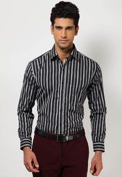 61e9b98b42 black coloured formal shirt from Hancock that is just what you need to look  smart and