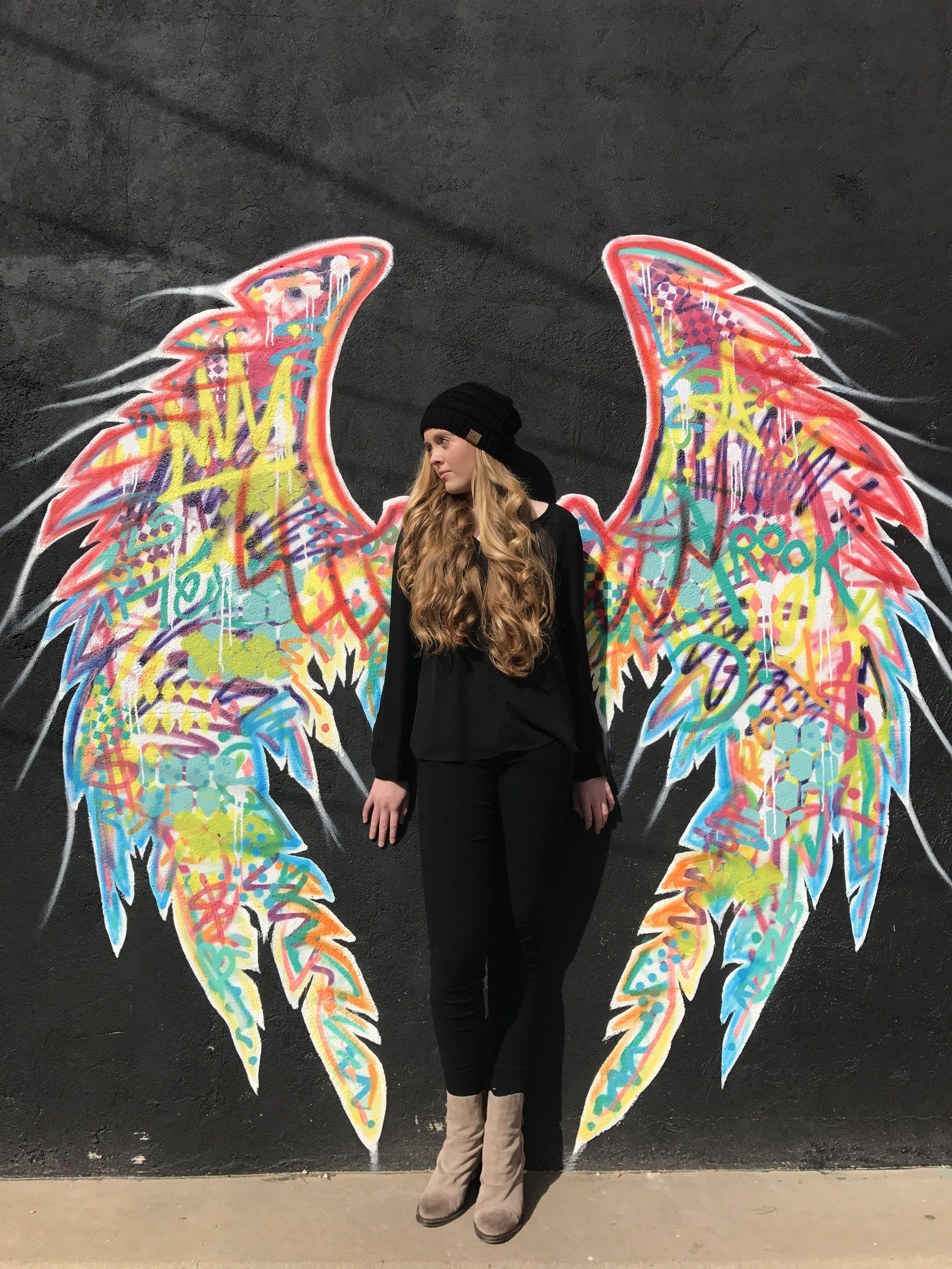 Graffiti Angel Wings Mural