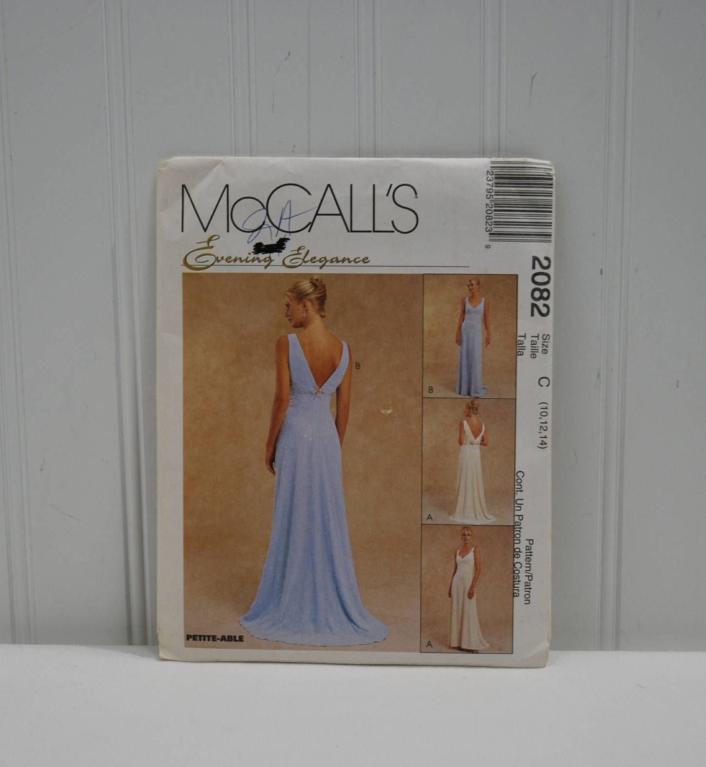 Mccall S 2082 Evening Elegance Formal Dress Sewing Etsy Sewing Dresses Womens Sewing Patterns Dress Sewing Pattern [ 1575 x 1451 Pixel ]