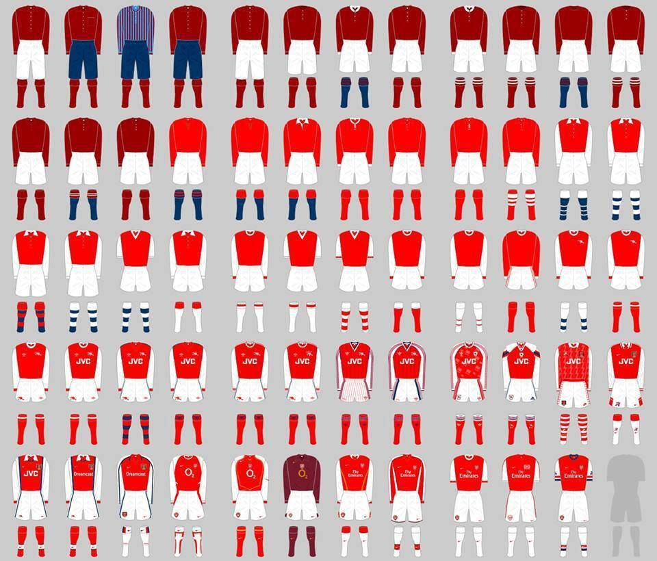 brand new fd540 444fe Every #Arsenal Home Kit: | The Beautiful Game | Arsenal ...