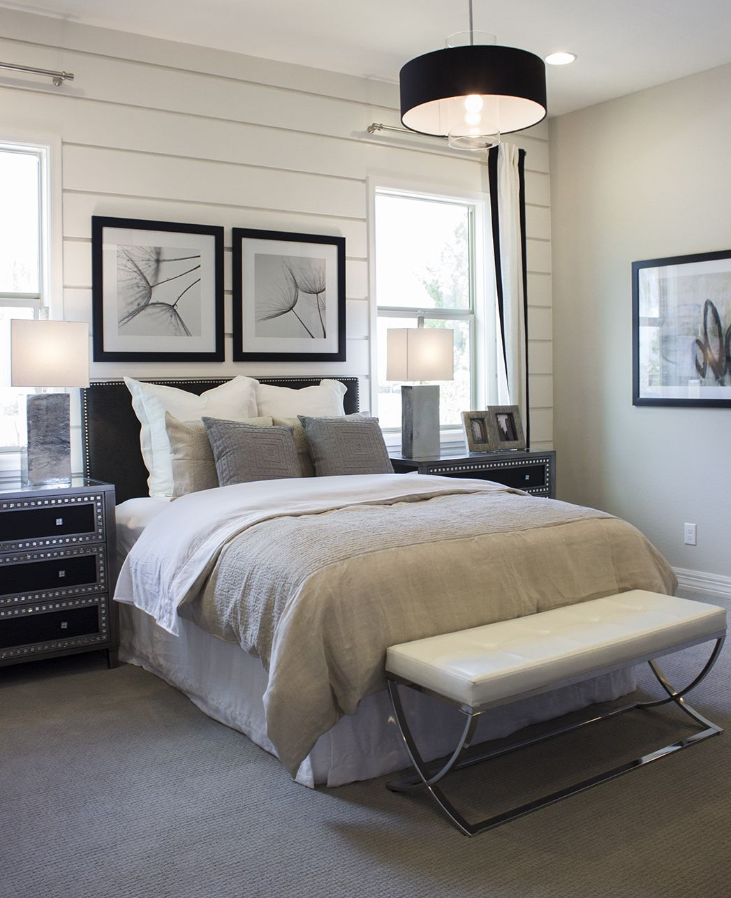 Shop the look of this contemporary dual master bedroom