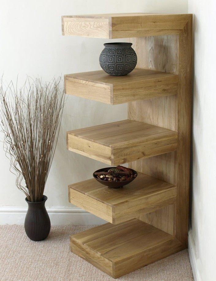 Cube Display Shelves Neo Solid Oak E Shelf Unit