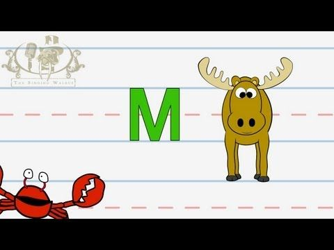 Letter M: How To Write The Upper And Lower Case, Explained By Cute Mr.  Crabby. These Videos Come With Free W… Writing Lessons, Alphabet Writing,  Preschool Letters
