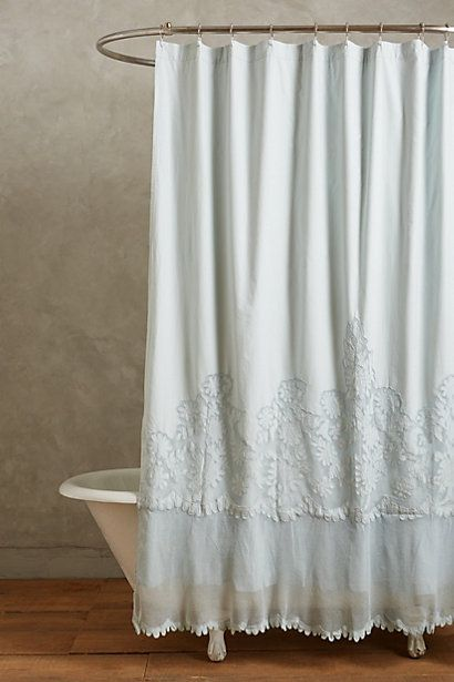 Most expensive shower curtain I've ever seen- no wonder I like it >>>>Sissonne Shower Curtain - anthropologie.com
