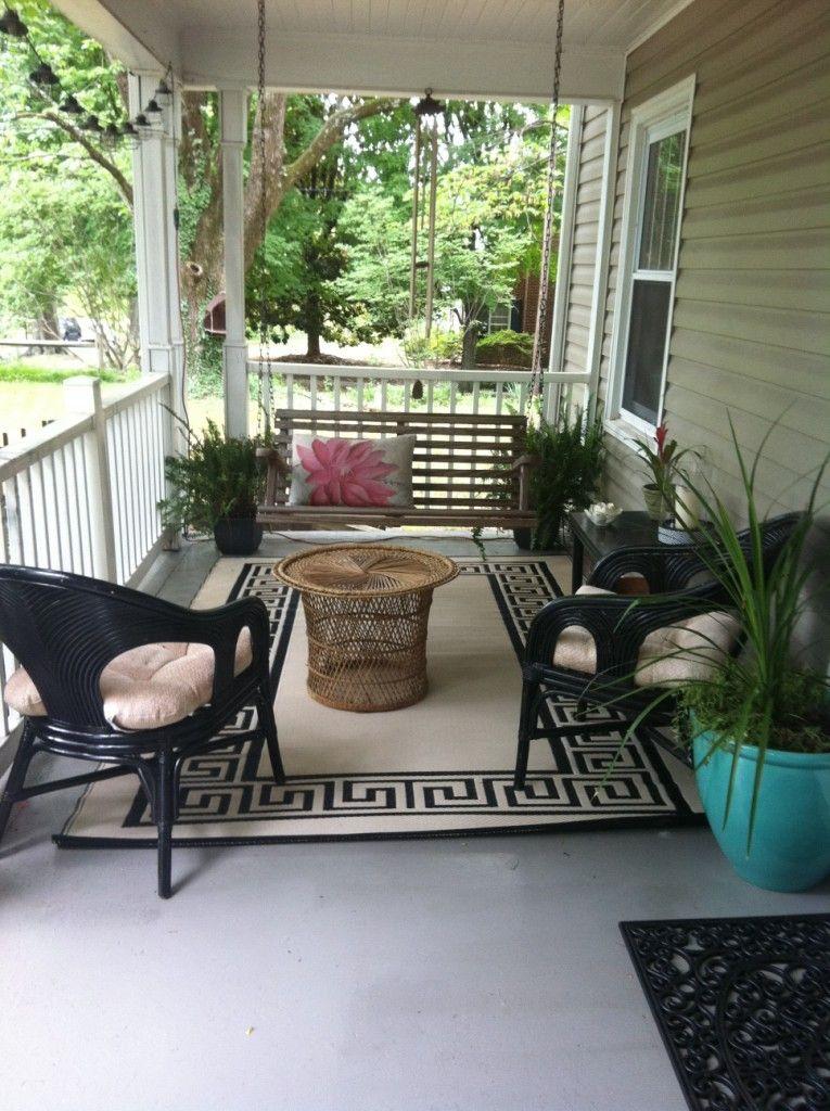 Atlas Greek Key Reversible Indoor/Outdoor Rug, Ebony