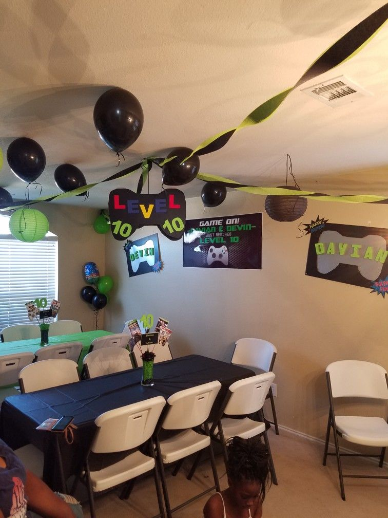Video Game Controller Gaming Party Gamer Party Level 10 Party Xbox Party Video Games Birthday Party Gamers Party