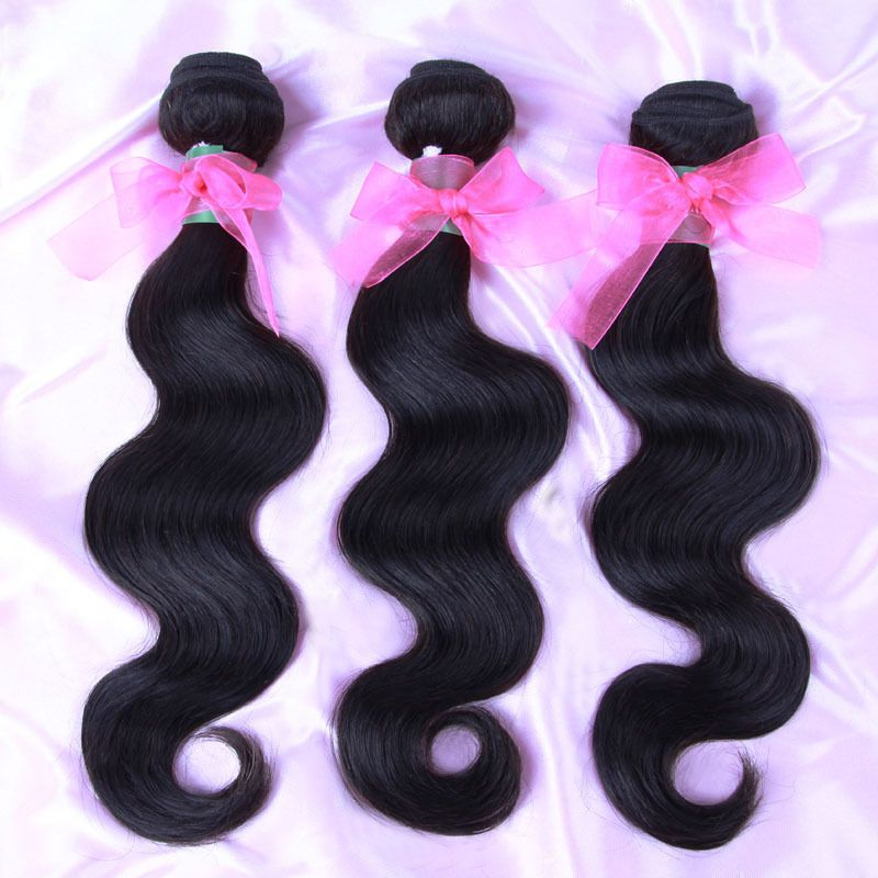 Natural Color 3pcslot Virgin Indian Hair Extension Free Shipping