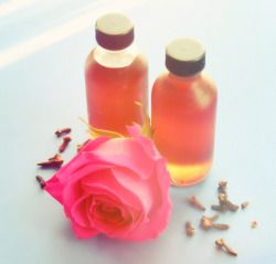 Homemade Rose Clove Simple Syrup I Add It To Tea Coffee And Seltzer Water To Make Some Pretty Amazing Flavor Flavored Drinks Simple Syrup Herbal Education