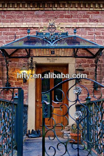 Wrought Iron Glass Dome Front Door Canopy Google Search
