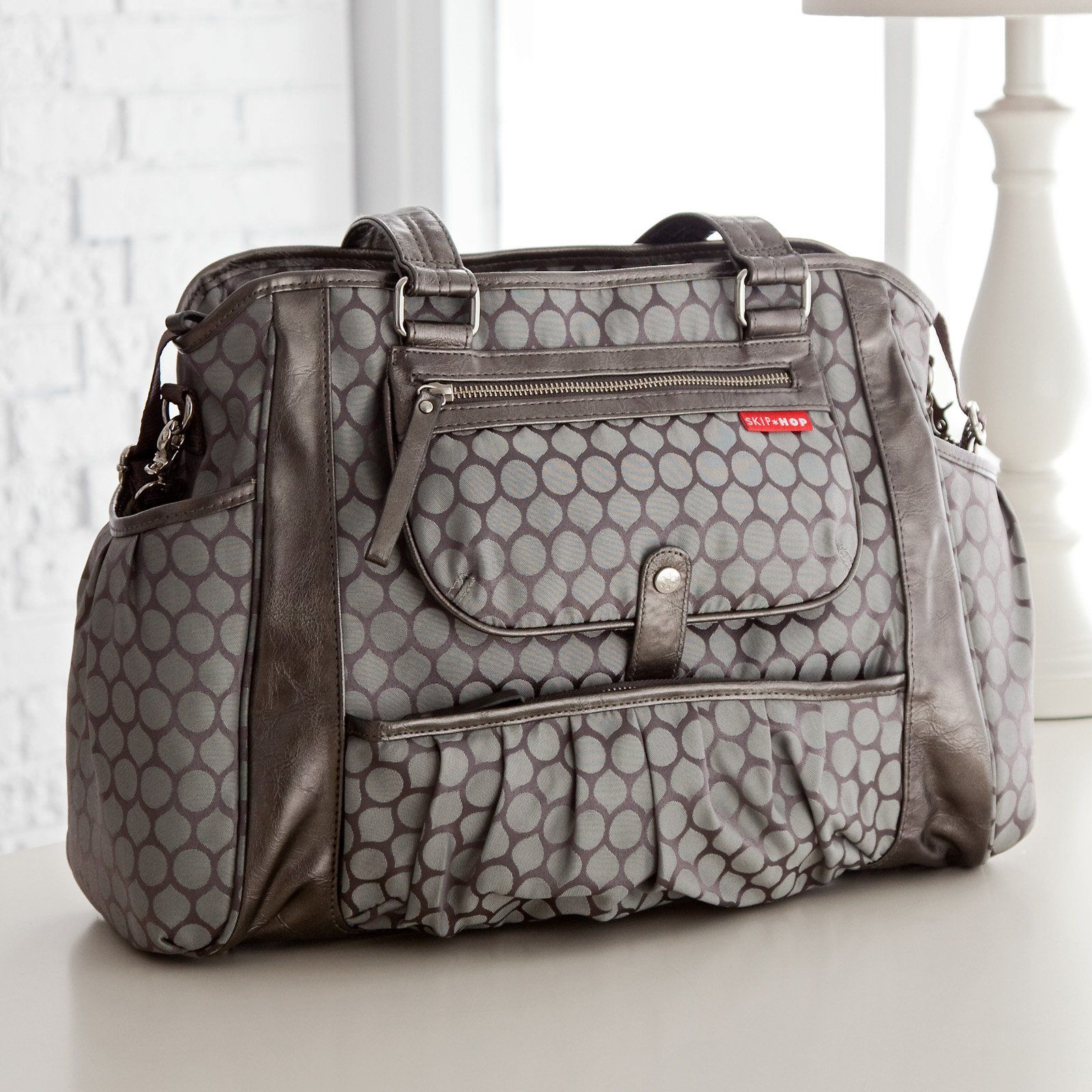 b3bfc3565b08 Have to have it. Skip Hop Studio Diaper Tote - Pewter Dots - $69.98 ...