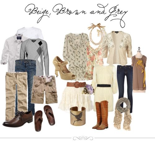 Beige, Brown, and Grey - what to wear to photoshoots