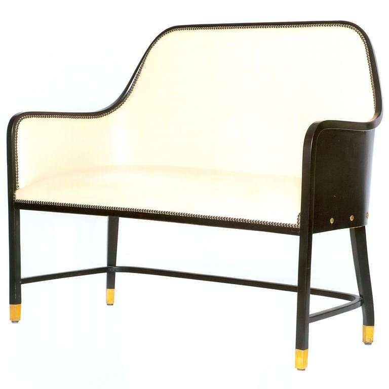 Leather Bench by Josef Hoffmann ca1901-02