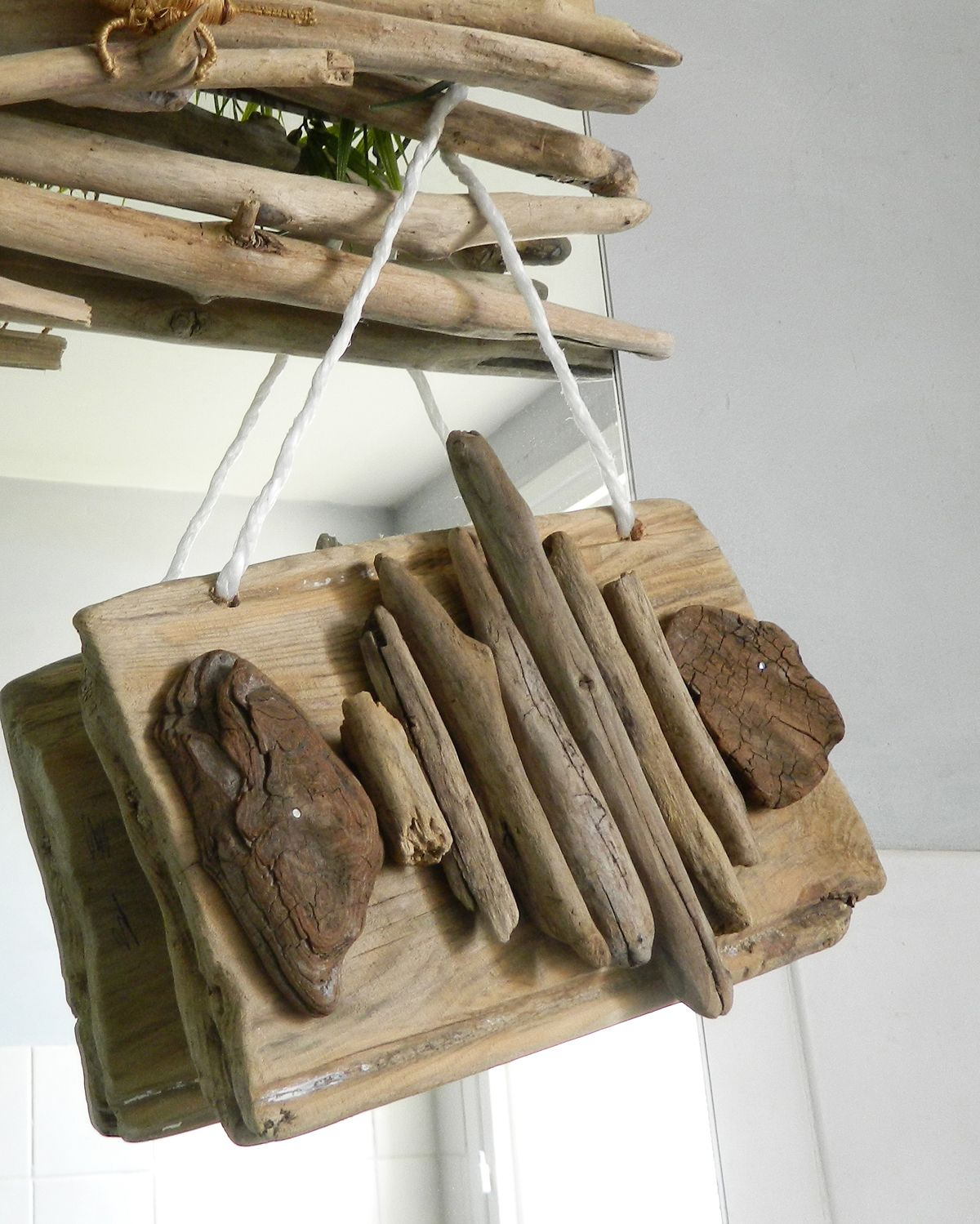 Pancarte poisson en bois flott bois flott pinterest for Arche en bois flotte