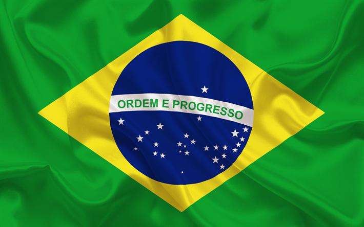 Descargar fondos de pantalla La bandera de brasil, Brasil, bandera ...
