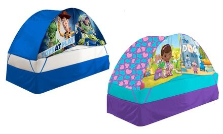 Disney and Nickelodeon Bed Tent with Push Light. Multiple Characters Available. Free Returns.