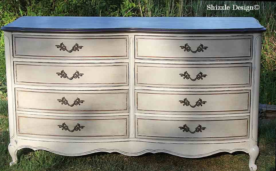 French Provencial Dresser Painted Taupe White Chalk Clay Paints Zle Design Furniture Ideas American Paint Company Rushmore Home Plate 4
