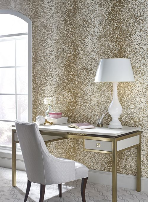 York Wallcoverings Candice Olson Shimmering Details Aviva 27 X Trellis Wallpaper De88 Color