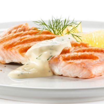 Baked Salmon with Dill Cream Sauce #easymeal #tasty