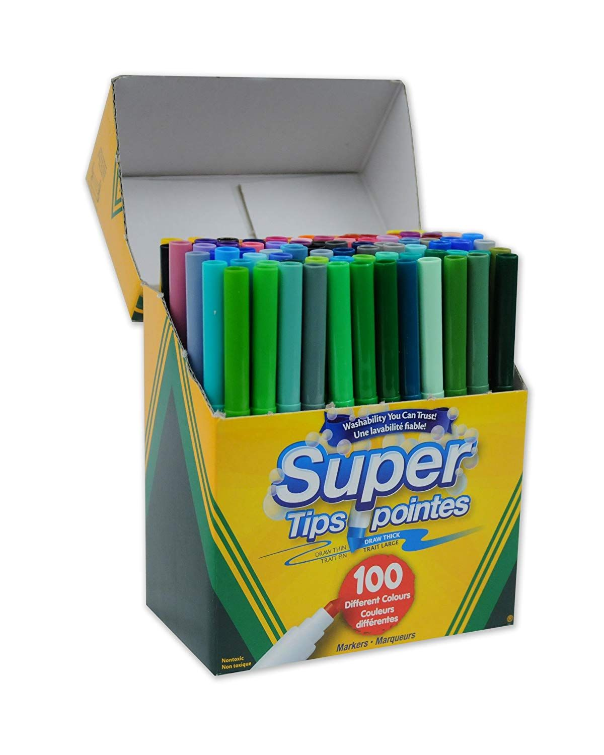 Crayola Super Tips Washable Markers 100 Count Bulk Adult