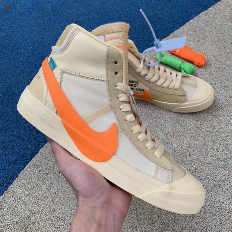 wholesale dealer 0d982 2617a nike blazer mid off white all hallows eve orange aa3832 700 detail picture  - www.