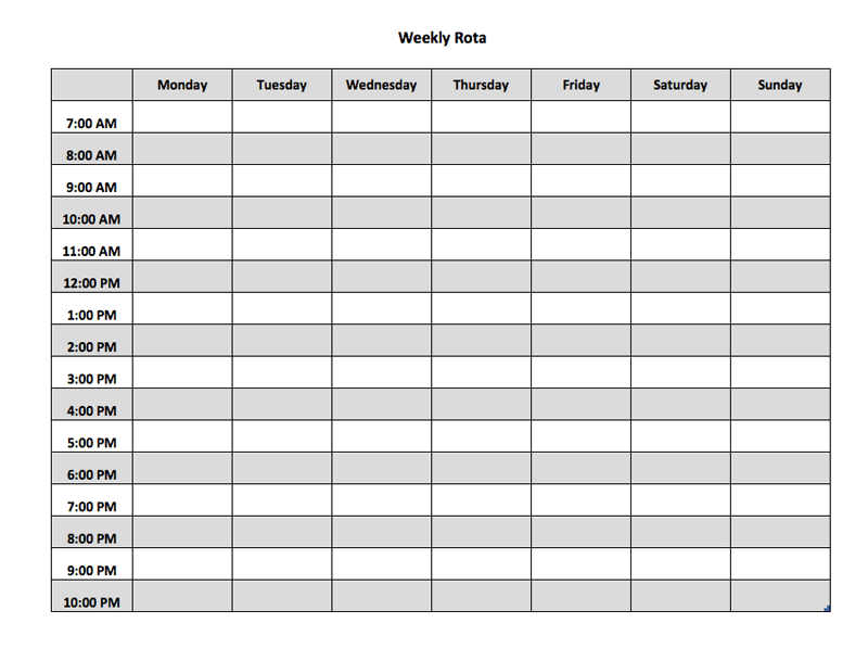 Image Result For Staff Rota Template Staff Pinterest Template - Staff scheduling template excel free