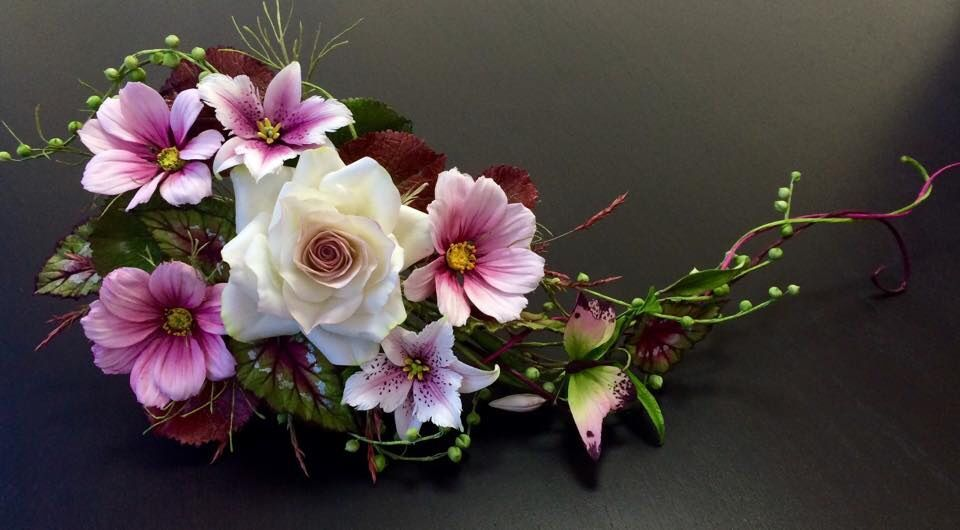 Amazing gumpaste flower arrangement by alan dunn his