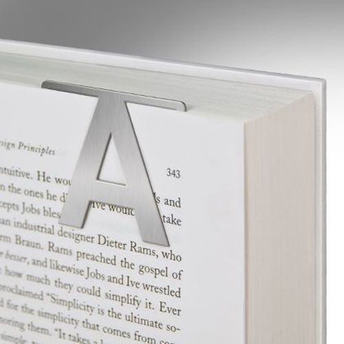 Metal Clip On Bookmarks Choose Your Letter Initial- Gift For Someone - gift letters