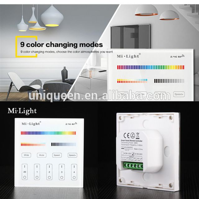 Source 2017 high voltage mi light t4 24g 4 zone rgb cct smart source 2017 high voltage mi light t4 24g 4 zone rgb cct smart wallmounted full touch panel remote controller for strip switch contro on mibaba aloadofball Gallery