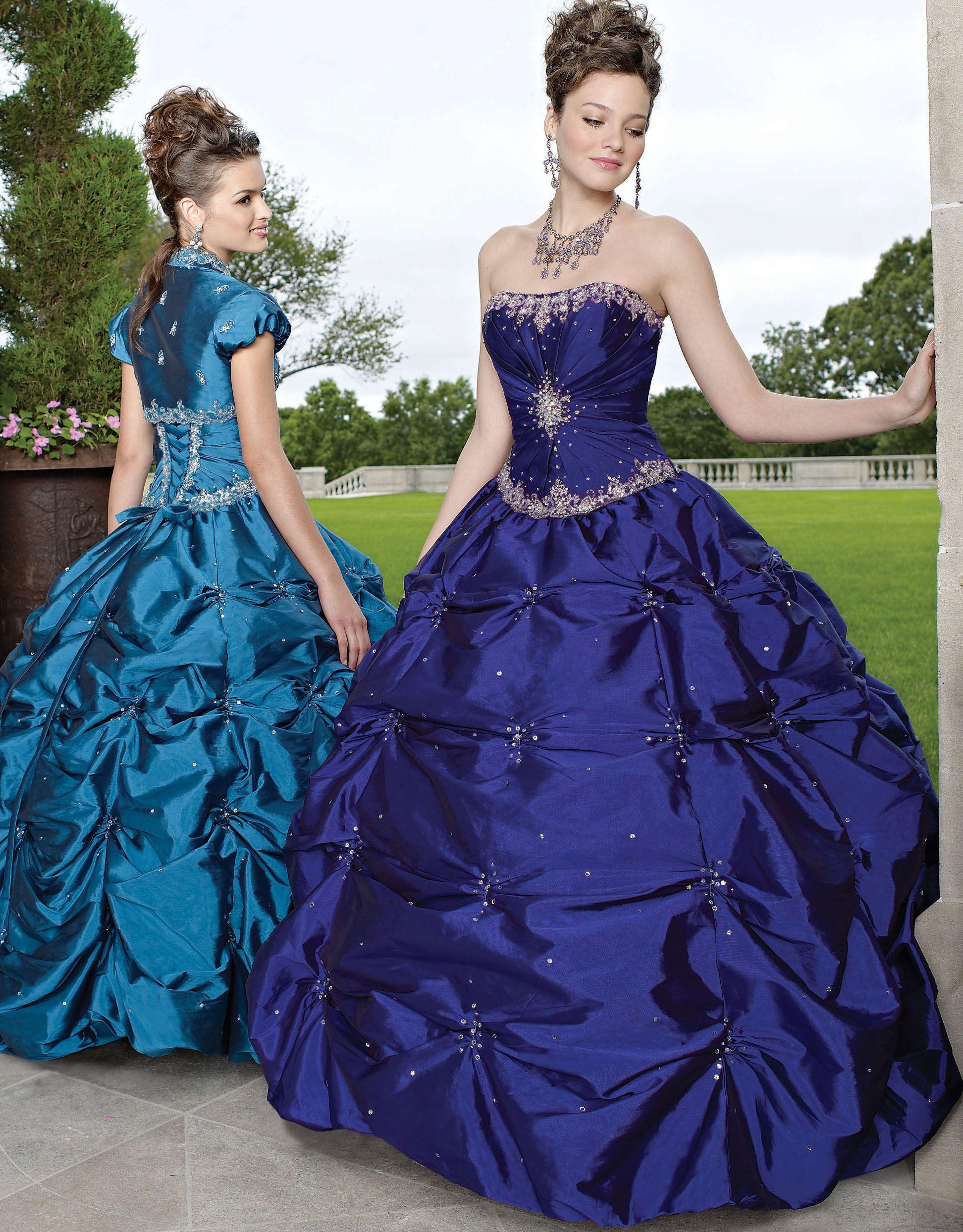 Beautiful purple and blue Quinceanera dresses #purple #blue ...