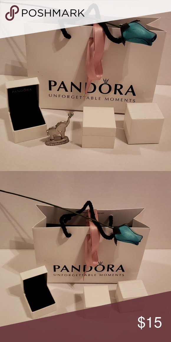 198cc3d496 Pandora gift box & bag Did you just buy pandora items on Posh & need a gift  box & bag? Includes 3 boxes for a ring or pandora beads, small gift bag, ...