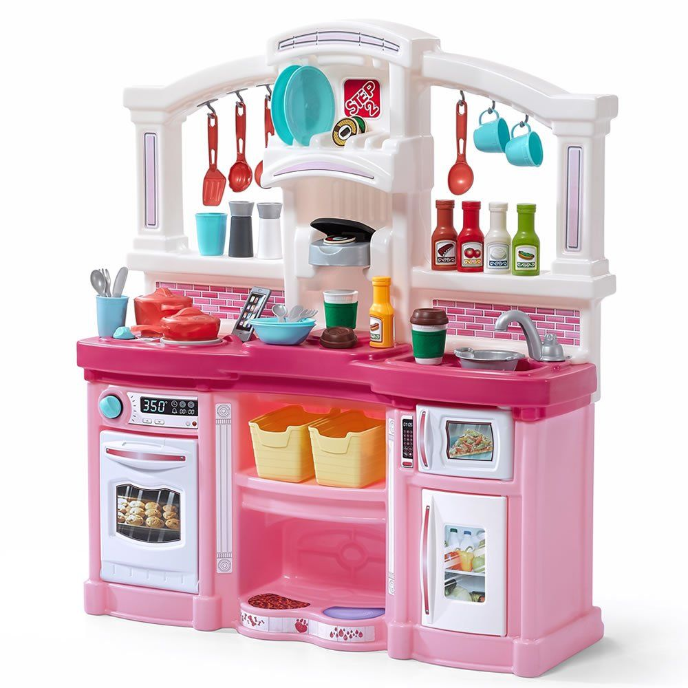 Step2 Fun With Friends Kitchen Large Plastic Play Kitchen With