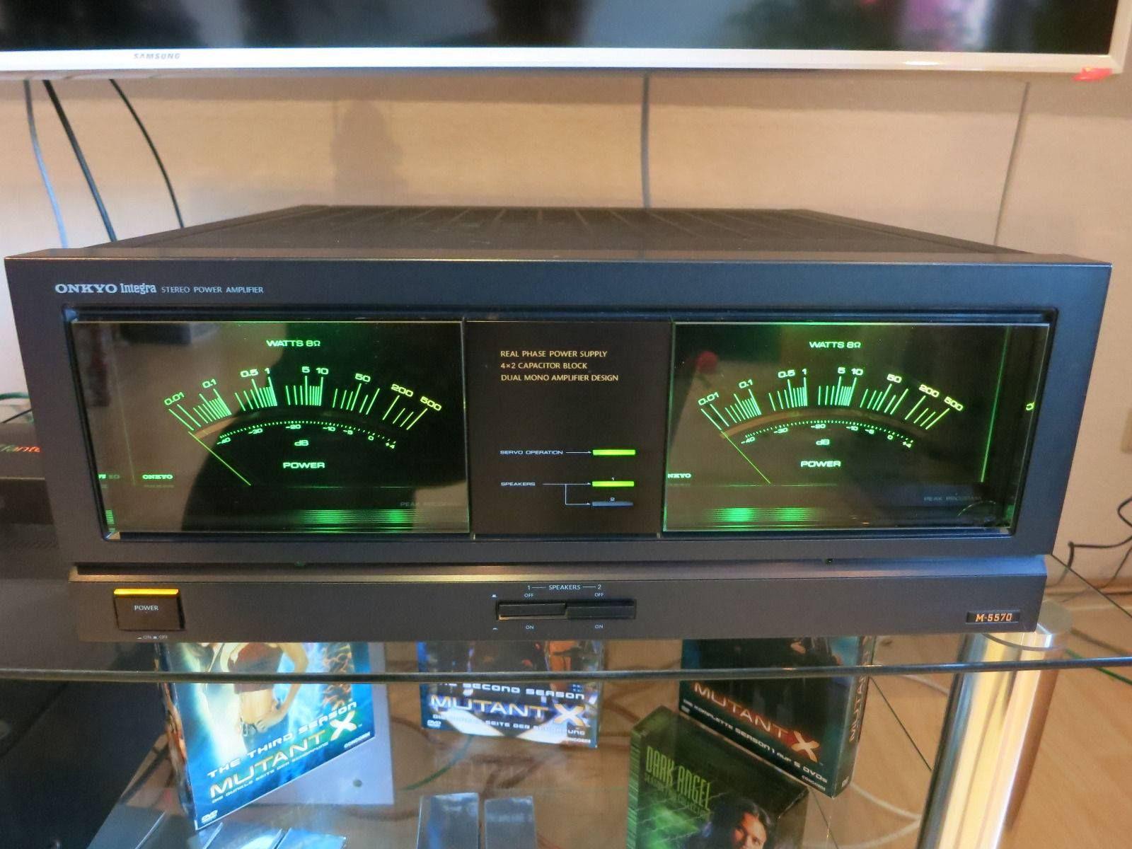 Onkyo Integra M5570 Stereo Power Amp Audio Pinterest Vu Meter For Amplifiers