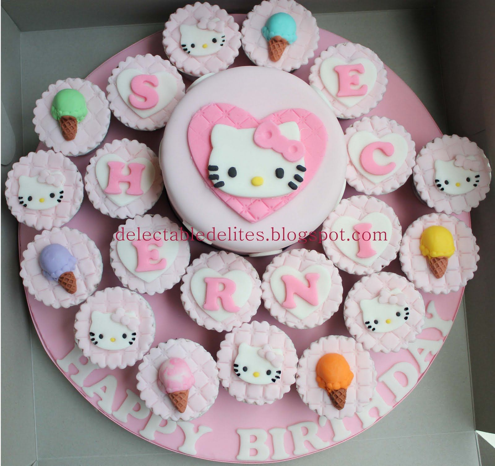 hello kitty cupcakes Hello Kitty cake cupcake set baby