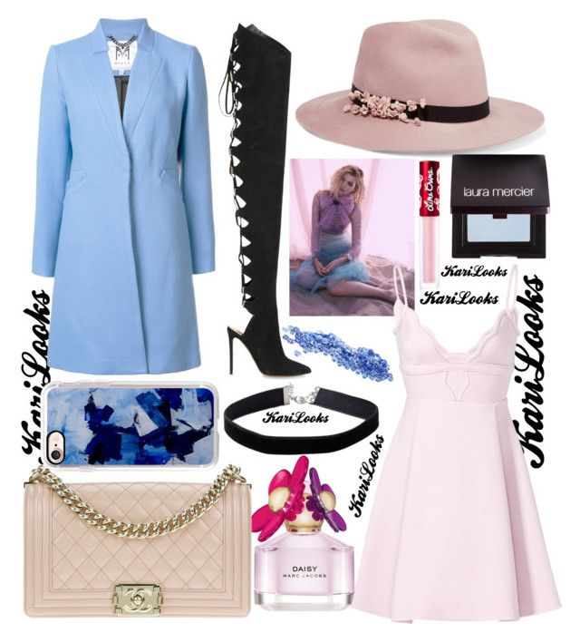 """""""MJ Pink Daisy"""" by karilooks ❤ liked on Polyvore featuring Marc Jacobs, Eugenia Kim, Milly, Giambattista Valli, Alexandre Vauthier, Chanel, Casetify, Miss Selfridge, Laura Mercier and Lime Crime"""