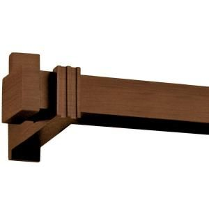 Harome Designs 96 In Chestnut Manhattan Square Wood Curtain Rod Set