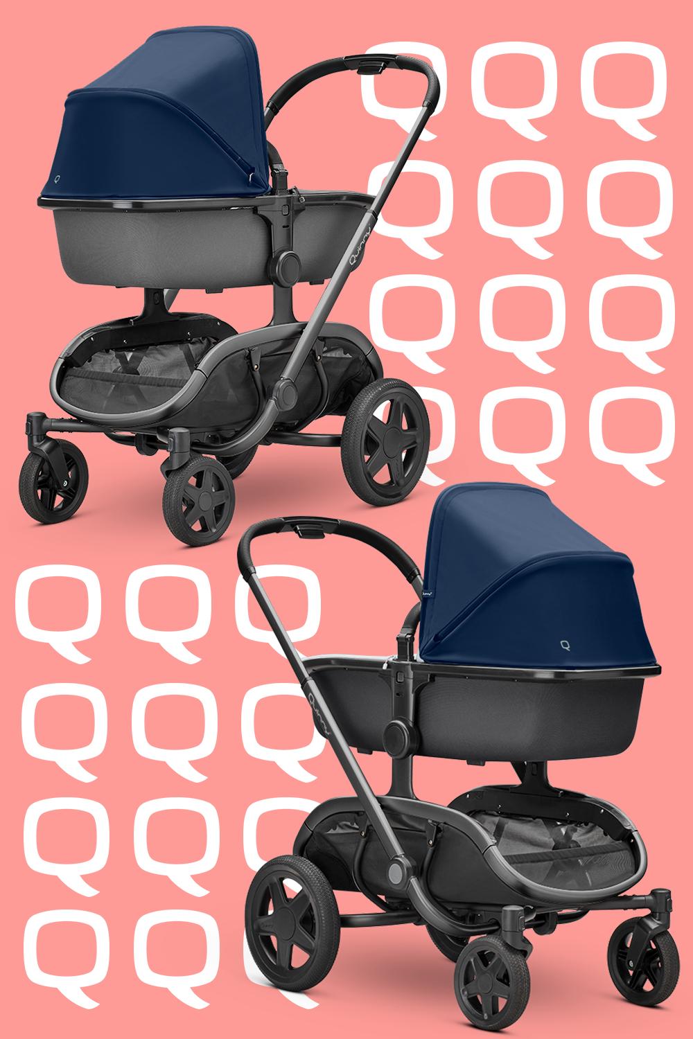 Stroll in style with the Hux Carrycot. Soft on the inside