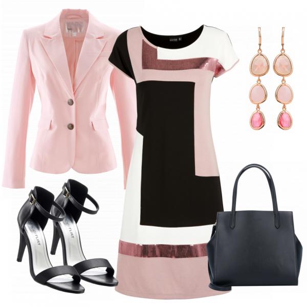 Herbst Schuhe klar in Sicht Gute Preise Toller Businesslook aus einem schönen Kleid, schwarzen ...